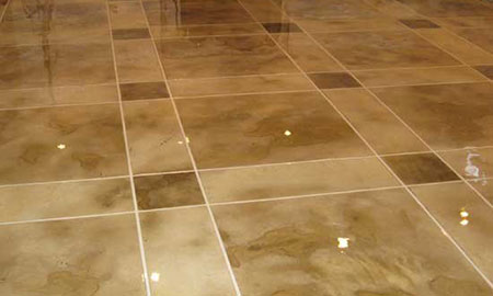 Stained concrete is a popular flooring choice.