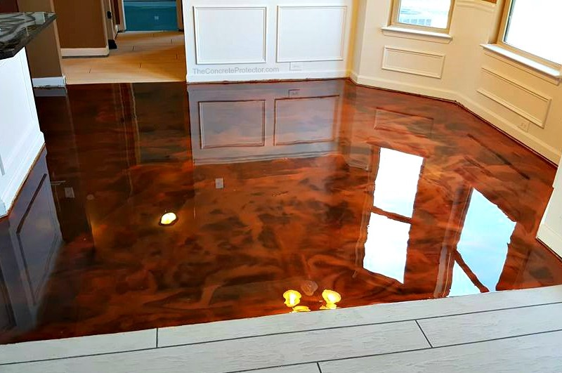 Metallic epoxy flooring has become a trendy choice where a high-tech, exotic-looking floor is desired.