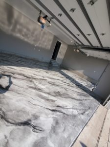 Metallic epoxy flooring installed professionally by Elite Epoxy is a cost-efficient, affordable solution that will last for years to come with little or no need for maintenance costs or upkeep.